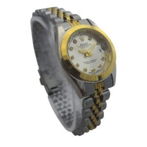 ساعت مچی عقربهای زنانه رولکس یک موتوره Rolex کد 456