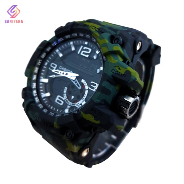 ساعت مچی عقربهای دیجیتال مردانه جی شاک G-Shock کد 1696