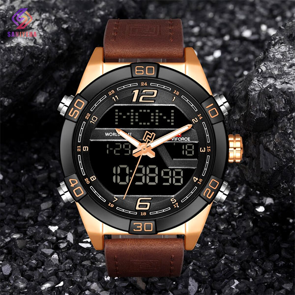 ساعت مچی عقربه ای مردانه ناوی فورس مدل NaviForce NF9128M RG B