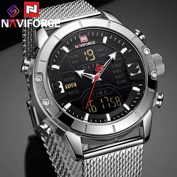 ساعت مچی عقربه ای مردانه ناوی فورس مدل NaviForce NF9153M SL-BL