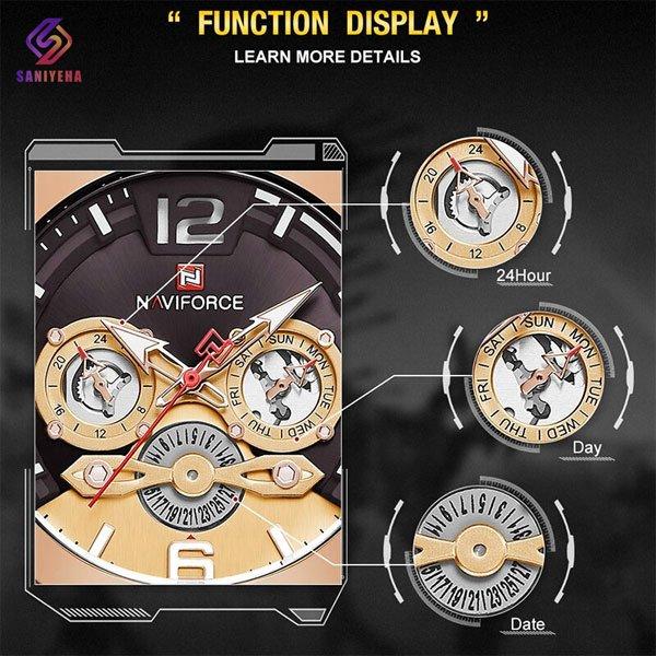 ساعت مچی عقربه ای مردانه ناوی فورس مدل NaviForce NF9168M RG-B