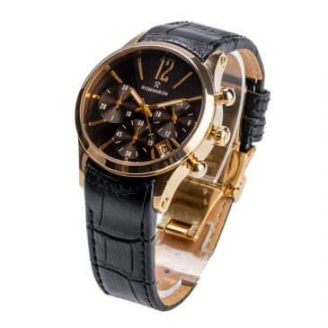 ساعت مچی عقربه ای مردانه رومانسون مدل RO03 ، خرید ساعت مردانه رومانسون ، ساعت بند چرم سه موتوره ، ساعت مچی سه موتوره بند چرم رومانسون Romanson در فروشگاه اینترنتی ثانیه ها
