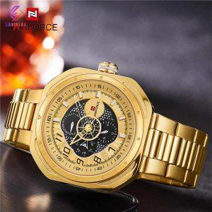 ساعت مچی عقربه ای مردانه نیوی فورس مدل NF9141 Golden