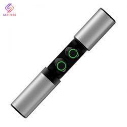 هندزفری بلوتوث تو گوشی مدل TWS-S2 با پاوربانک ظرفیت 1200 میلی آمپر