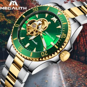 ساعت مچی اتوماتیک عقربه ای مردانه مگالیت مدل 8209-GR | Megalith Watch Orginal
