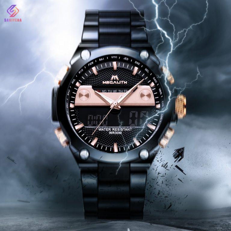 ساعت مچی عقربه ای مردانه مگالیت مدل 8005-BL | Megalith hand watch model 8005-BL