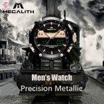 ساعت مچی عقربه ای مردانه مگالیت مدل 8005-BL   Megalith hand watch model 8005-BL