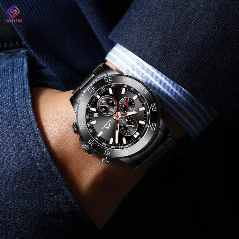 ساعت مچی عقربه ای مردانه مگالیت مدل 8087-BL