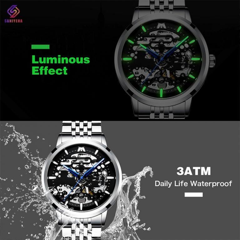 ساعت مچی اتوماتیک عقربه ای مردانه مگالیت مدل 8204-S