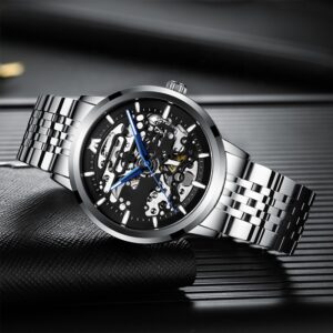 ساعت مچی اتوماتیک عقربه ای مردانه مگالیت مدل 8204-S | Megalith Watch 8204 Orginal