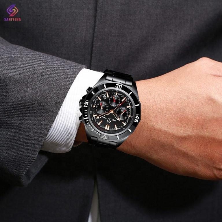 ساعت مچی عقربه ای مردانه مگالیت مدل 8206-BL
