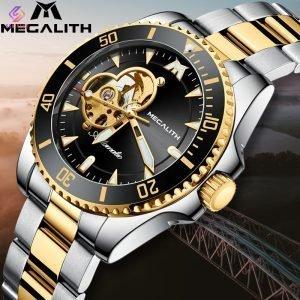 ساعت مچی اتوماتیک عقربه ای مردانه مگالیت مدل 8209-SG | Megalith watch orginal