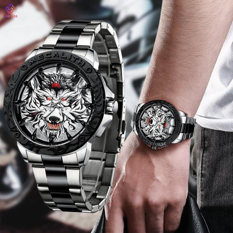 ساعت مچی عقربه ای مردانه مگالیت مدل SK 8207