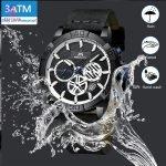 ساعت مچی عقربه ای مردانه مگالیت مدل B-W 8086