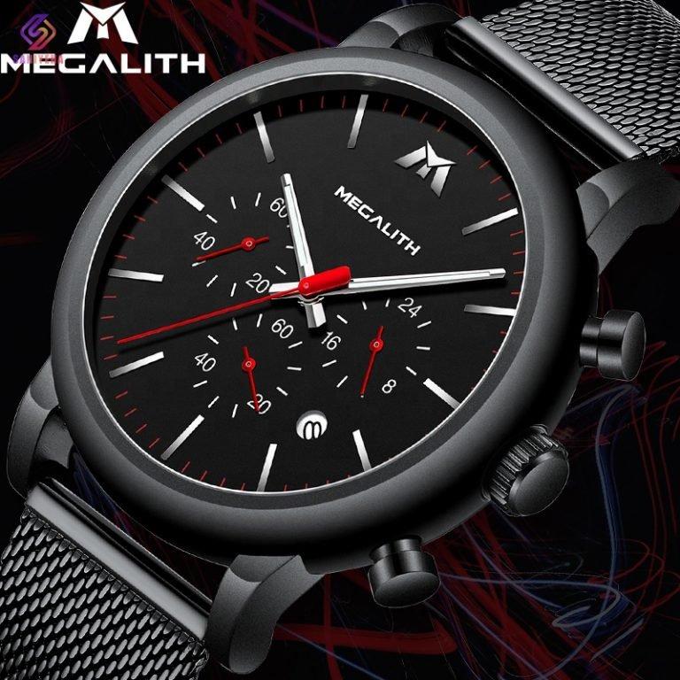 ساعت مچی عقربهای مردانه مگالیت مدل 8040-blk