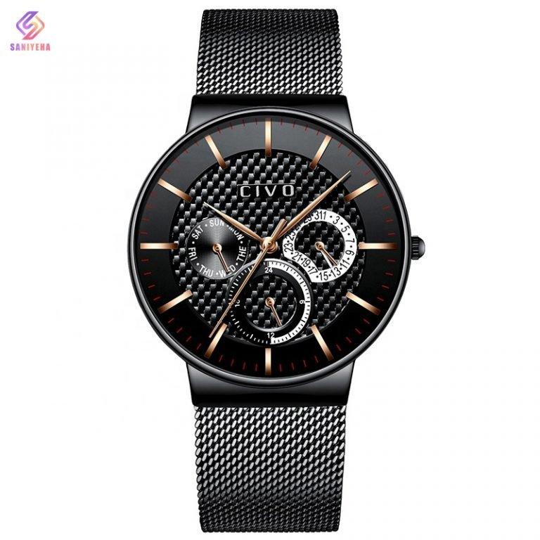 ساعت مچی عقربه ای سیوو مدل 0047-black