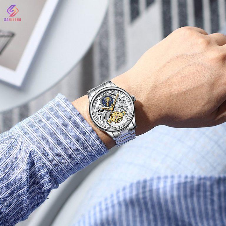 ساعت مچی اتوماتیک عقربهای مردانه تویس مدل silver – t 820