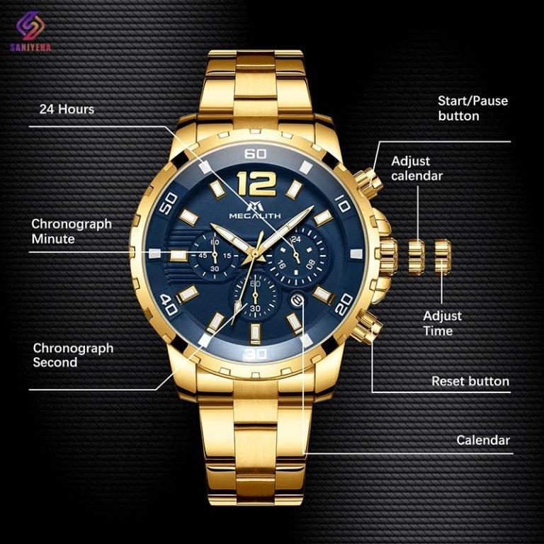 ساعت مچی عقربه ای مردانه مگالیت مدل 8048-G