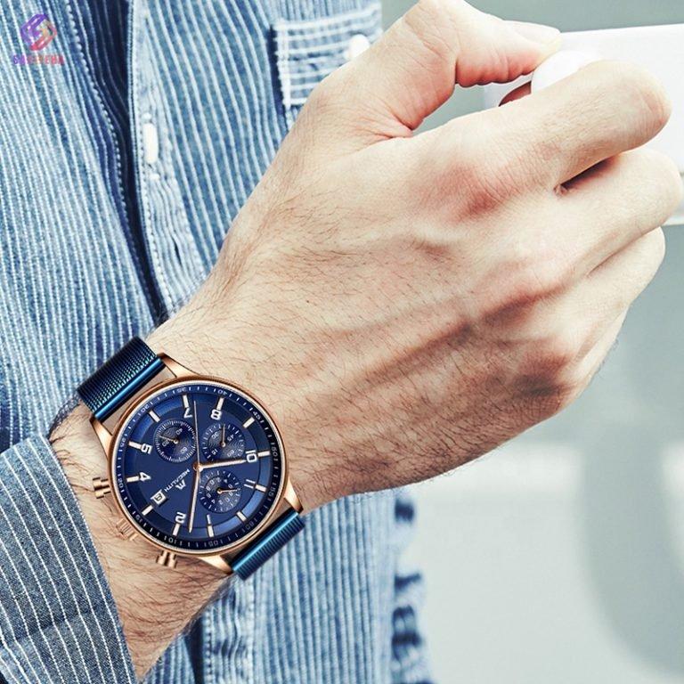 ساعت مچی عقربهای مردانه مگالیت مدل 8003-blue
