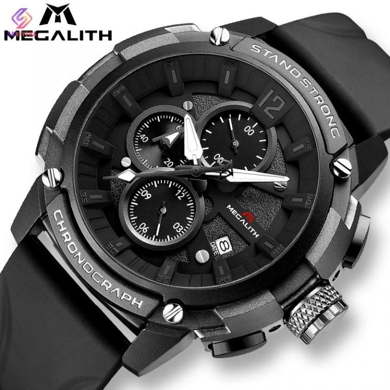 ساعت مچی عقربهای مردانه مگالیت مدل blk-8231