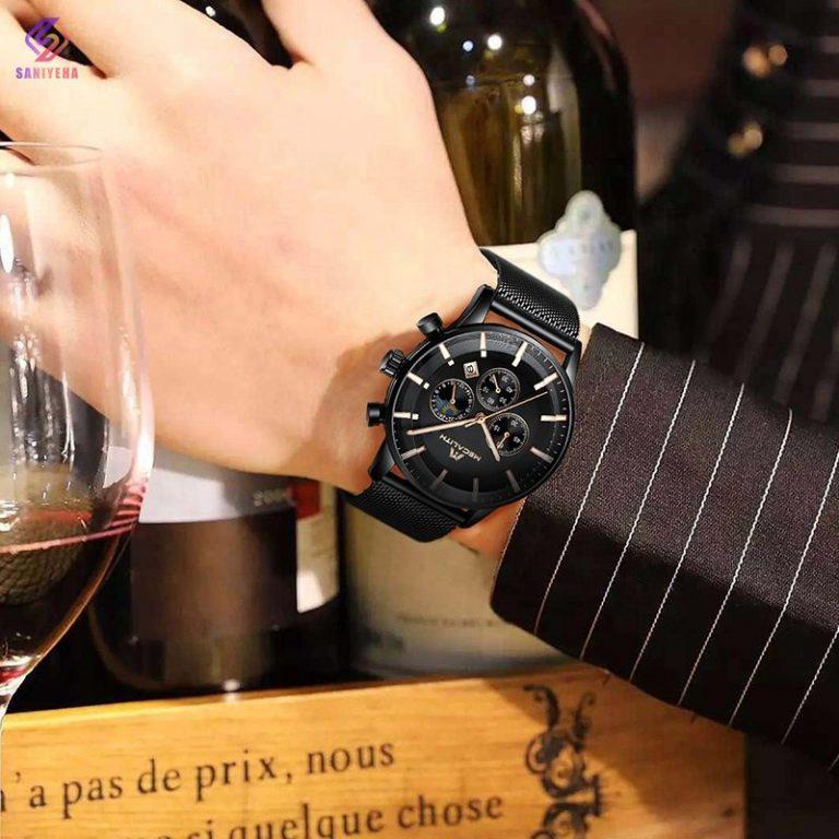 ساعت مچی عقربهای مردانه مگالیت مدل black-8089
