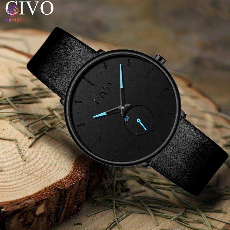 ساعت مچی عقربه ای سیوو مدل 0124-black