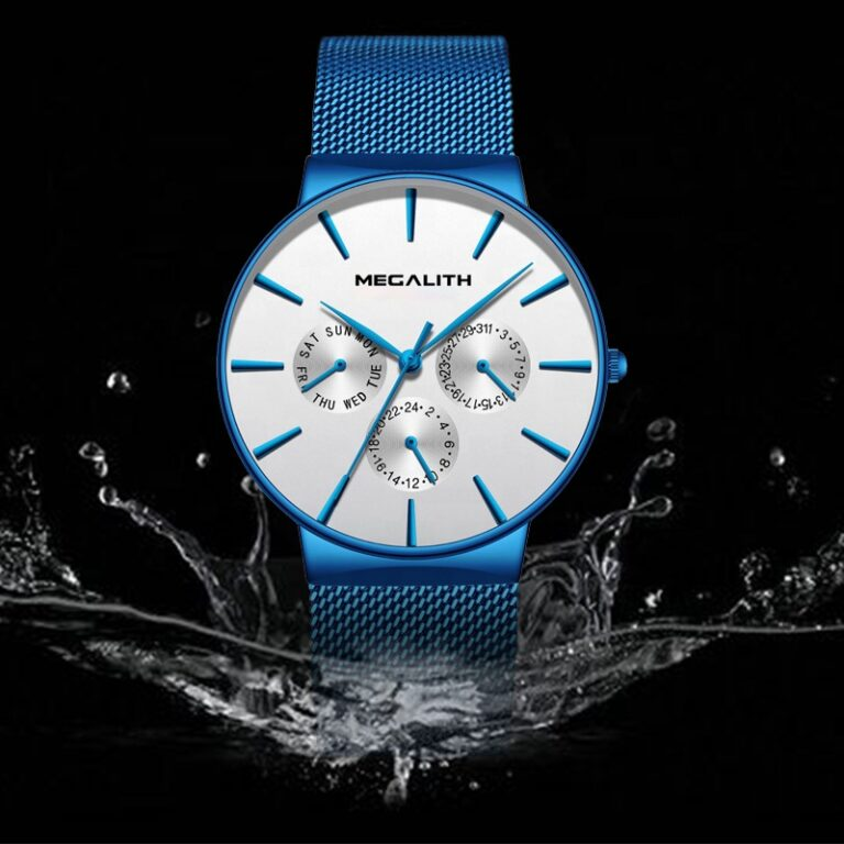 ساعت مچی عقربه ای مردانه مگالیت مدل 0047-whbl