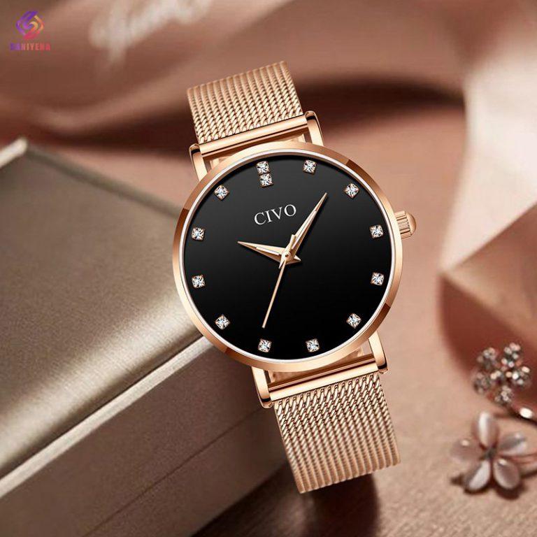 ساعت مچی عقربه ای زنانه سیوو مدل 8055-blrg
