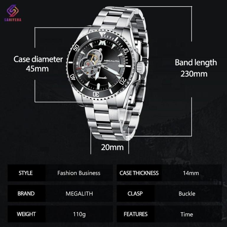 ساعت مچی عقربه ای مردانه اتوماتیک مگالیت مدل sib-8209