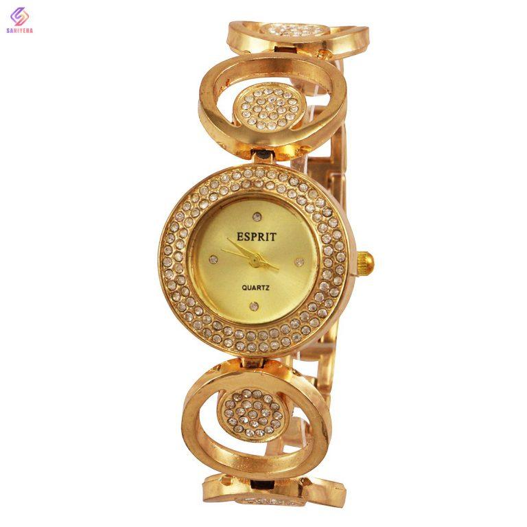 ساعت مچی عقربه ای زنانه اسپریت مدل gold-909