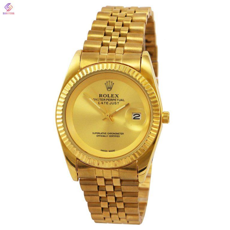 ساعت مچی عقربه ای مردانه و زنانه رولکس مدل GOLD-121