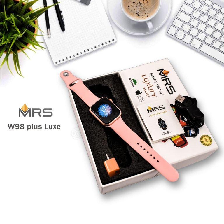 ساعت هوشمند ام آر اس مدل w98 plus luxe